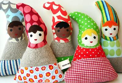 Eco-friendly baby dolls by Tadpole Creations on Etsy
