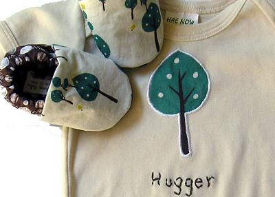 Eco-friendly baby onesies and booties By Growing Up Wild on Etsy