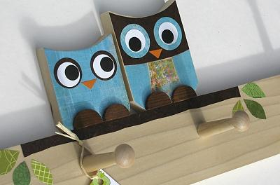 Eco-Friendly owl peg rack by Maple Shade Kids on Etsy