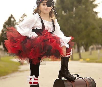 Girl's pirate Halloween costume by Zachary Dickory Dock