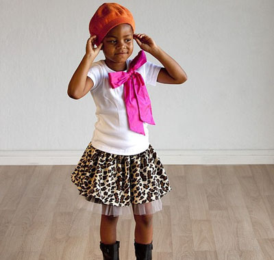 Leopard Party Skirt and Eloise Shirt by Gracie Mae Kids on Etsy
