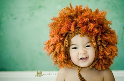 Little lion hat by Sweet Pea Toad Tots on Etsy