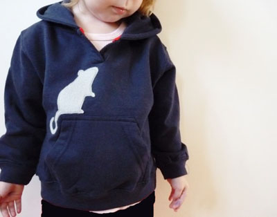 Mouse hoodie by My Pipsqueak on Etsy