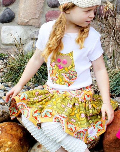 Owl twirl skirt set by Bella Grace Creations on Etsy
