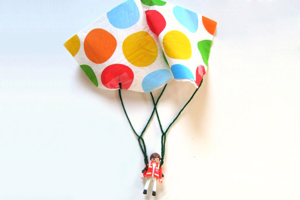 Homemade toy parachute by No Time For Flash Cards