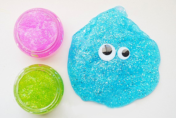 Homemade glitter slime by The 36th Avenue