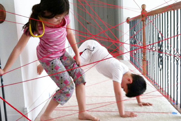 Homemade string trap for kids by My Home Life