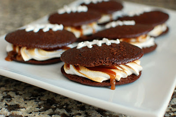 Super Bowl Snack: football whoopie pies by Beantown Baker