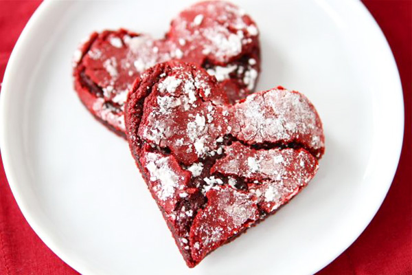 Valentine's Day red velvet crinkle cookies by Two Peas & Their Pod