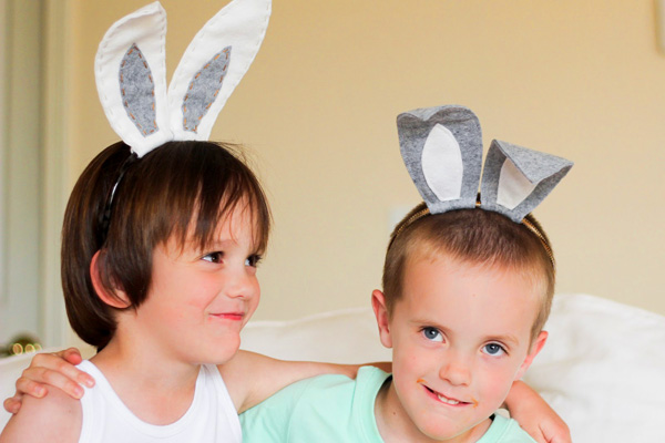15 easter crafts activities treats for kids parentmap homemade felt easter bunny ears for kids by finley olive pronofoot35fo Images
