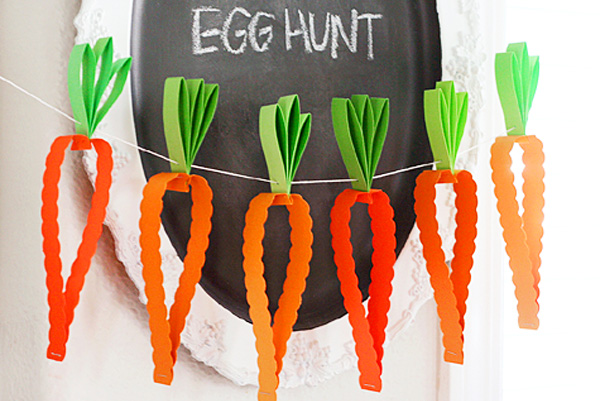 Easter carrot garland by Lisa Storms