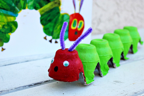 Homemade Very Hungry Caterpillar by Tonya Staab on Rusty and Rosy