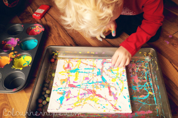 Marble art for kids by Colour Her Hope