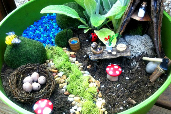 Kids Garden Ideas childrens sensory garden i love this idea how cute especially if Homemade Fairy Garden For Kids By Play Create Explore