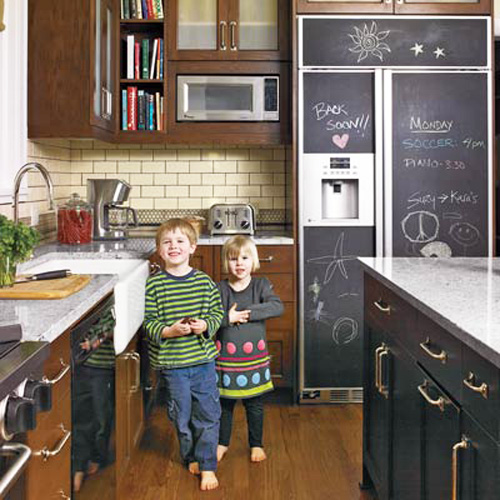 DIY chalkboard refrigerator by This Old House