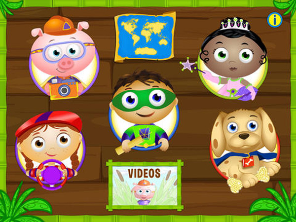 Super Why ABC Adventures educational app for kids