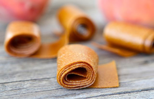 Healthy snack idea for kids: Homemade fruit leather by Two Peas and Their Pod