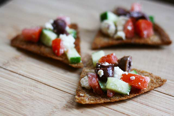 Healthy snack idea for kids: Homemade pita chips by Cheap Recipe Blog