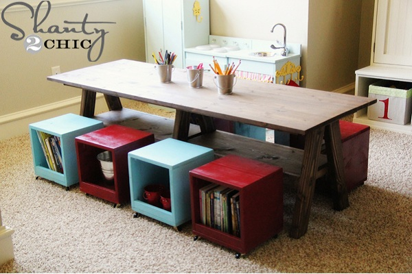 DIY montessori table by Shanty 2 Chic