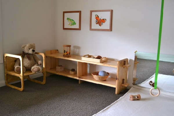 Mirror and Shelves - How We Montessori