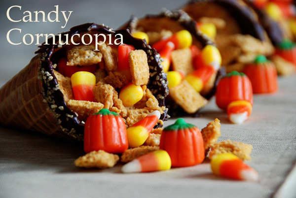 Thanksgiving candy cornucopia by Simple Girl