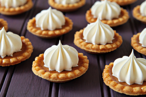 Thanksgiving mini pumpkin pies by My Baking Addiction