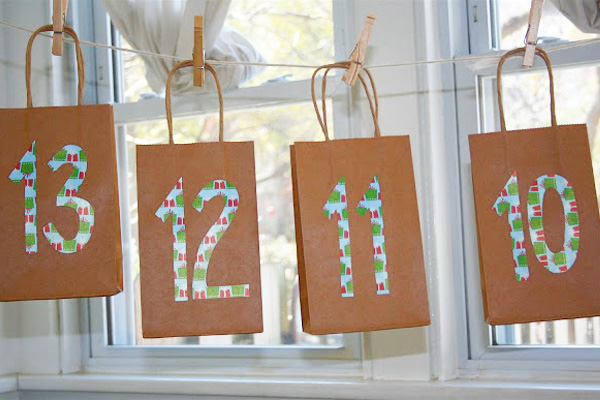 Homemade Christmas advent calendar by Moment to Moment