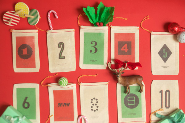 Homemade Christmas advent calendar by Oh Happy Day