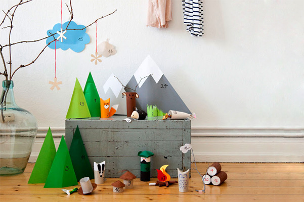 Homemade Christmas advent calendar by Snug Studio
