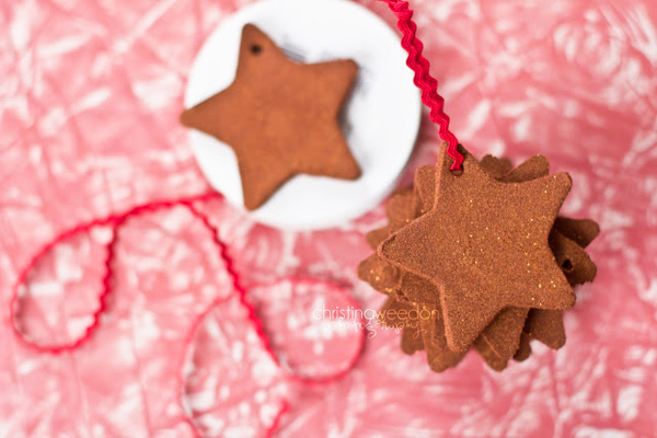 Homemade gingerbread Christmas ornaments by Dandelions on the Wall