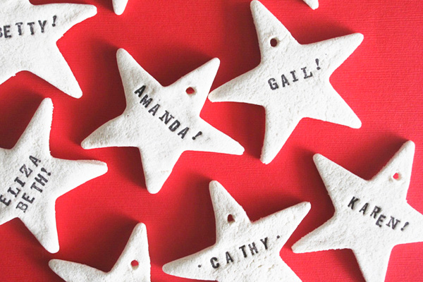 Homemade salt dough Christmas ornaments by Design Editor