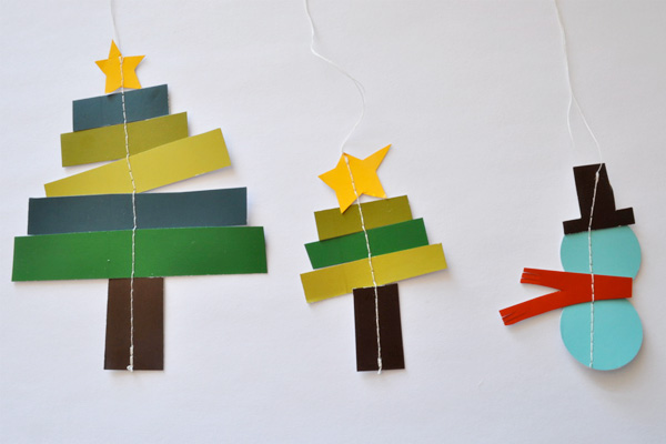 Homemade Christmas ornaments by Elsie Marley
