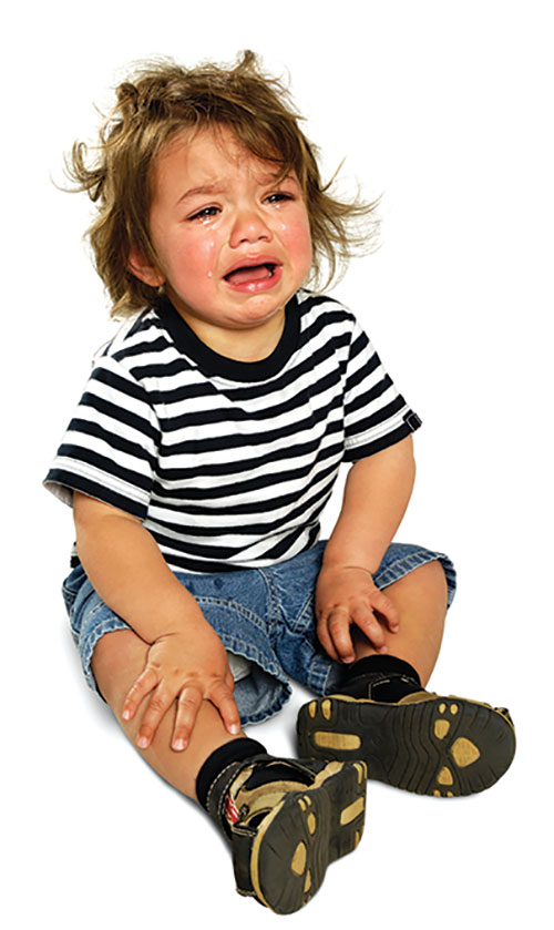 Toddler boy crying tantrum tears sad child sitting upset