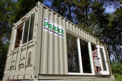 King County camping shipping container box