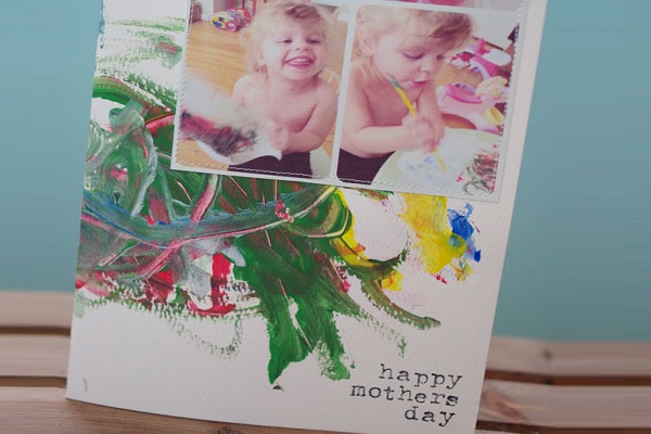 Finger-painted Mother's Day Card