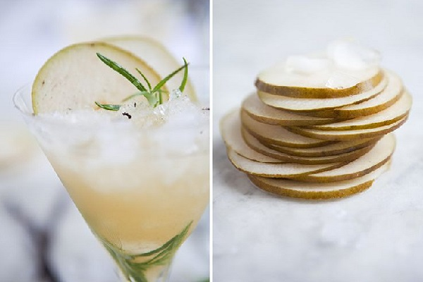 Rosemary Pear Cocktail