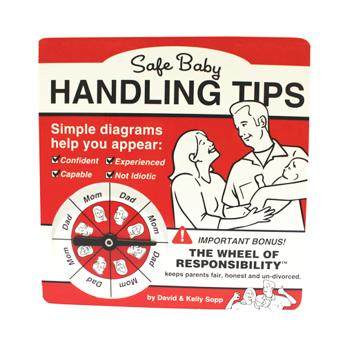 """Safe Baby Handling Tips"" book cover"
