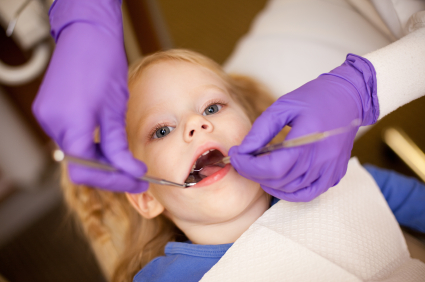 Toddler at the dentist
