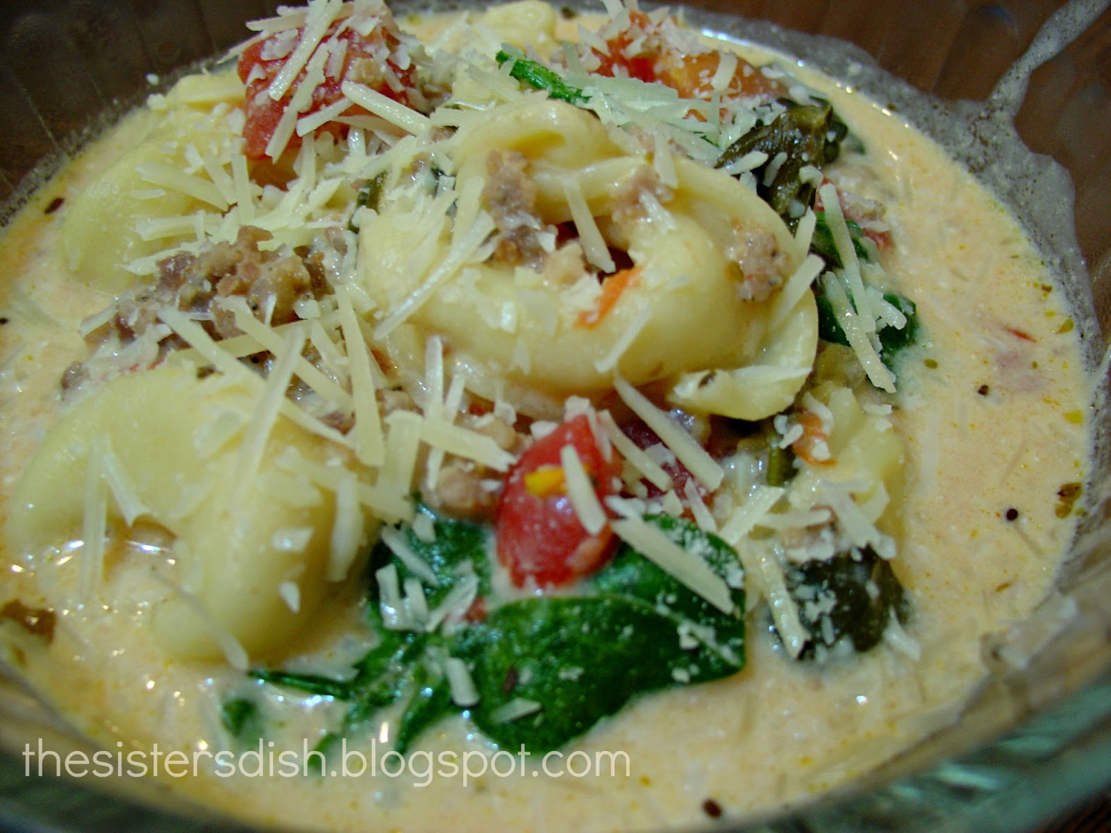 Crock-pot Tortellini Soup by The Sisters Dish