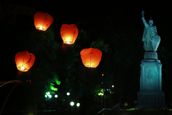 Chinese Red Lanterns for Christmas