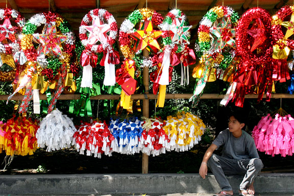 Philippines Christmas paper lanterns