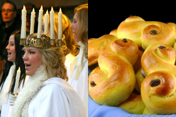 St. Lucia Day Buns Candle Crown