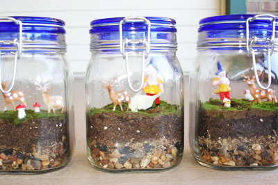 Christmas terrarium gift by All Dressed in Blue
