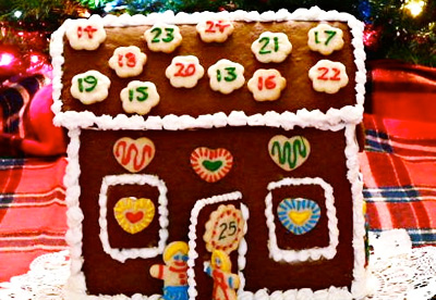Christmas gingerbread house advent calendar by Gingerbread Snowflakes
