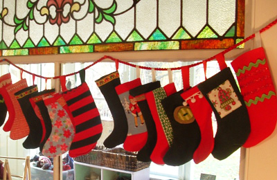 Christmas stocking advent calendar by Soule Mama