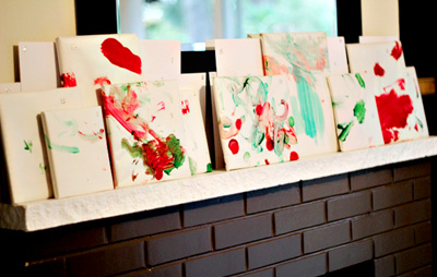 Homemade Christmas reading advent calendar by Modern Parents Messy Kids
