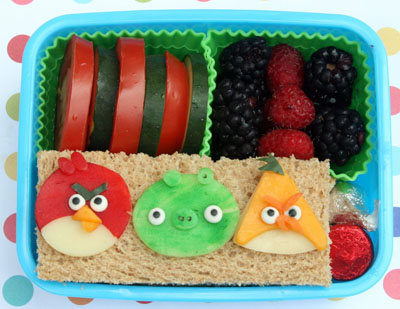 Angry Birds bento box lunch by Bento-logy