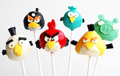 Angry Birds cake pops by The Girl Who Ate Everything