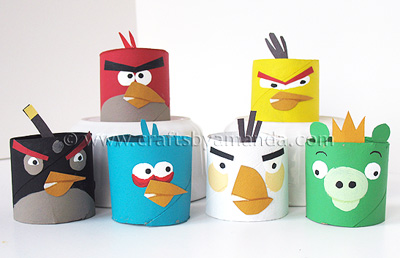 Cardboard Angry Birds toys by Crafts by Amanda