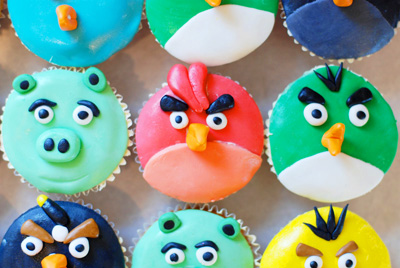 Angry Birds cupcakes by The Johnson's Life Online